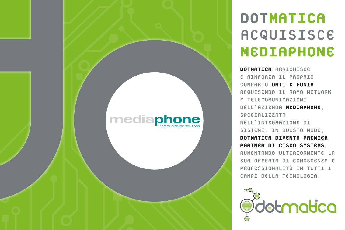 DotMatica acquisisce il ramo di networking e fonia da Mediaphone srl